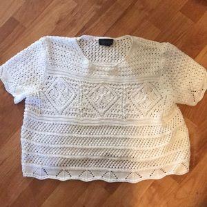 Top Shop Crochet Cropped Top